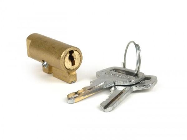 Cerradura dirección -CALIDAD OEM- Motovespa 150S (motor 502M), 150Sprint (motor 04M), 150GS (motor 04M), 160 (motor 09M), SUPER (motor 762M) - 2 llaves