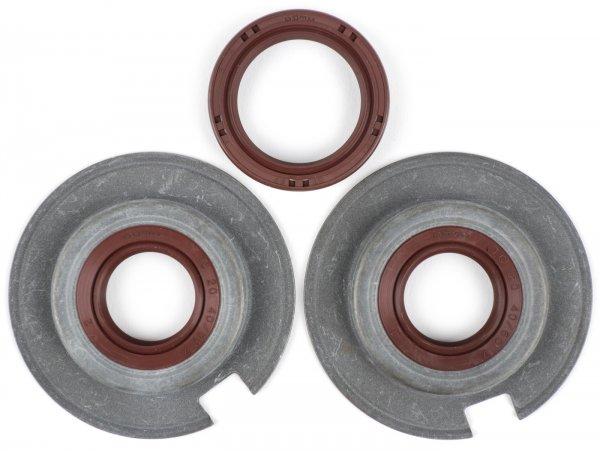Wellendichtringsatz Motor -BGM PRO, FKM/Viton® (E10 beständig)- Vespa Largeframe VNA1, VNA2 (VNA2M -091392), VBA (VBA1M -313583)