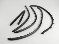 Floor board runners -OEM QUALITY, width=15mm- Vespa V50, V50N (1964-, V5A1T 36000-), V50R (1969-) - rubber (w/o alloy rails)