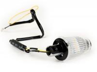 Blinker -MOTO NOSTRA Lenkerblinker LED (E-Prüfzeichen), 6 Volt- Vespa V50, 50SR, 50 Sprinter, 90SS, 90 Racer, PV125, ET3, Sprint150, Rally180/200 - weiß
