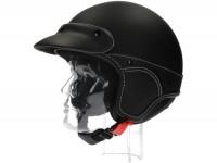 Helm -NEW MAX, Elegance Jethelm- schwarz matt -