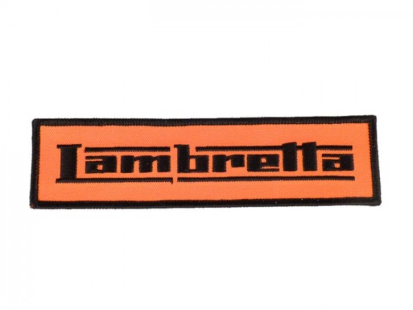 Patch thermocollant -LAMBRETTA- orange - 150x40mm