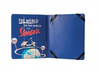 "iPad/Tablet PC cover -VESPA, 20x24x1.8cm- ""The world on two wheels with Vespa"""