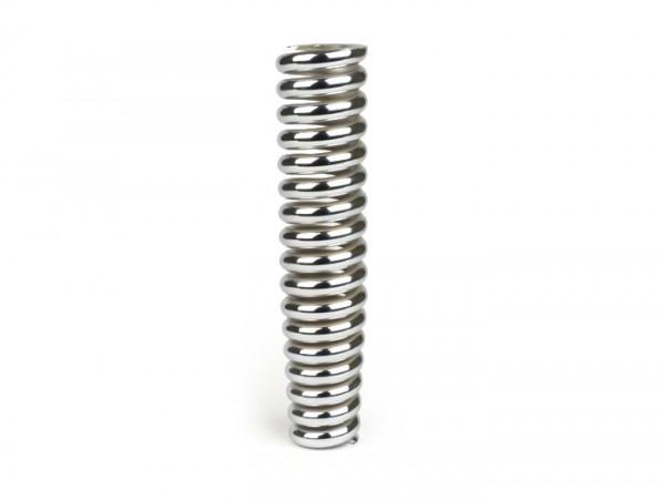Shock absorber spring front -ROLLERLADEN l=190mm- Vespa GS150 / GS3 - chrome