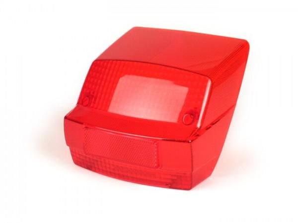 Rücklichtglas -MOTO NOSTRA- Vespa PX alt (-1984) mit E-Kennzeichnung - Rot
