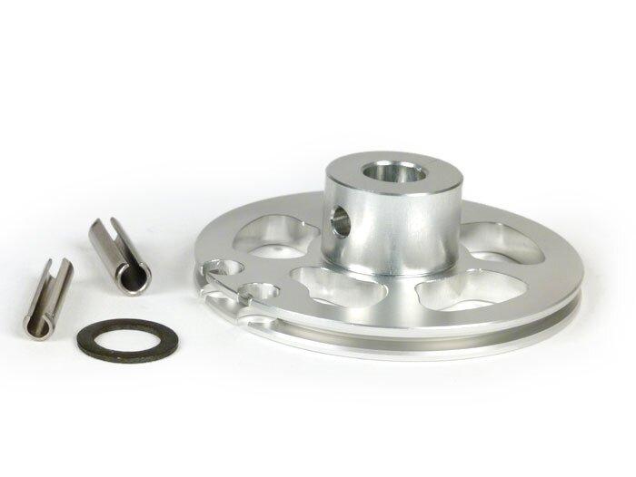 Gear change roller -BGM Pro made by JJP, QUICK ACTION- Lambretta LI (series  3 since 1966), LIS (since 1966), SX, DL, GP - silver anodised