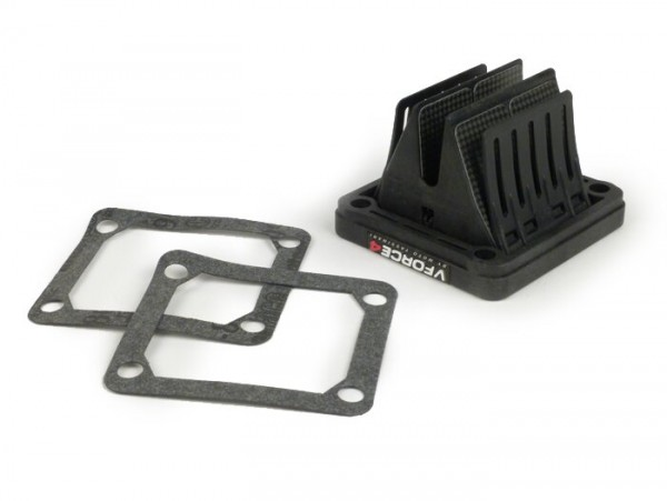 Membranblock -TASSINARI VForce 4 (70x66x43mm)- Yamaha Banshee (Typ Yamaha RD350 YPVS) - auch passend für Ansaugstutzen MRP, MMW, MBD/MRB