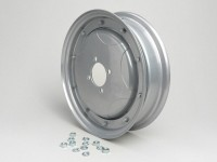 Wheel rim -SPAQ 2.10-10 inch, steel, star- Vespa GS150 (VS1-4), Messerschmidt GS3 (VD1T, VD2T) - also as wheel rim for conversion from 8 inch to 10 inch - silver