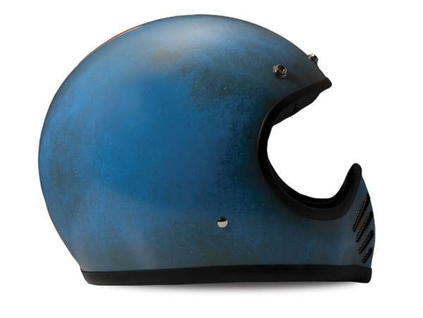 Casco -DMD Handmade- casco cross, vintage - Arrow Blue - L (59-60cm)