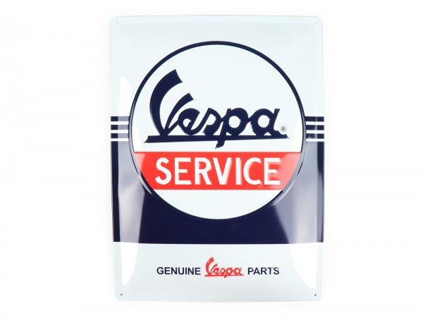 """Pubblicità -Nostalgic Art- Vespa """"Service"""", 30x40cm"""