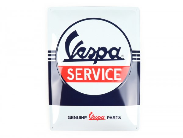 "Advertising sign -Nostalgic Art- Vespa ""Service"", 30x40cm"