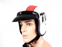 Helmet -BANDIT 777 Jet- white/red - XL (61-62cm)