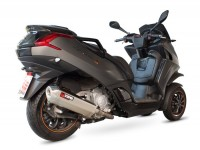 "Marmitta -SCORPION ""Red Power"" Serket slip-on- Peugeot Metropolis 400 - silenziatore in acciaio inox"