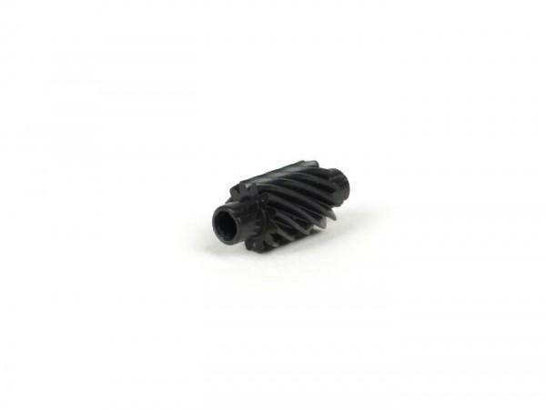 Piñón reenvío cuentakilómetros -LML- Vespa 12 dientes, l=28mm, 2,7mm cuadrado, negro (compatible con Vespa PX (1984-), Grimeca Classic))