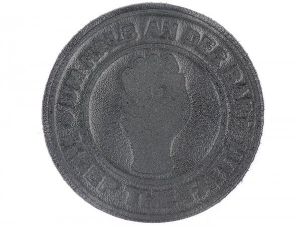 Aplicación -Um Halb an der Bar- negro - Ø=6cm