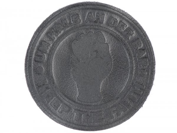 Patch -Um Halb an der Bar- black - Ø=6cm