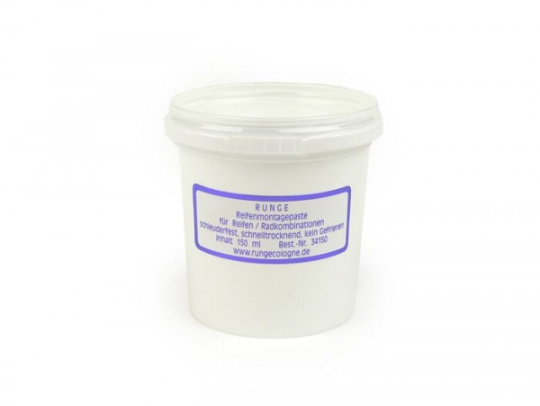 Tire mounting paste white -RUNGE- 150ml