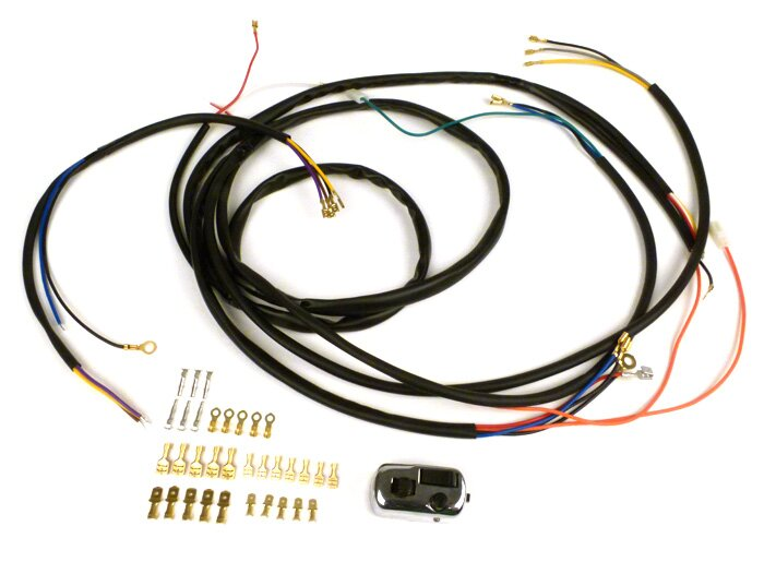 Wiring loom set for conversion (incl. light switch) -BGM PRO, Vespa on vespa clock, vespa frame diagram, vespa accessories, scooter battery wire diagram, vespa dimensions, vespa sprint wiring, vespa motor diagram, vespa stator diagram, vespa 150 wiring, vespa parts diagram, electric scooter diagram, vespa v50 wiring, vespa engine, vespa switch diagram, vespa seats,