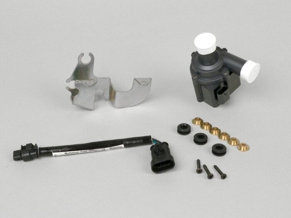 Wather pump set -PIAGGIO- Universal, 12V, flow rate 13l/min - 780 Liter / hour (used in Piaggio Leader 125 (since 2009), Leader Hybrid)
