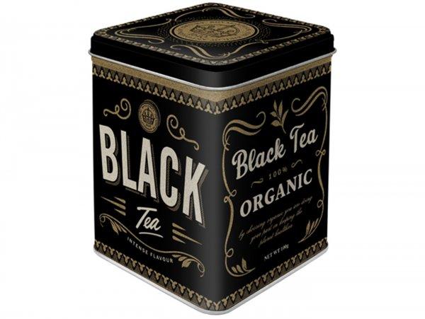 "Tea box -Nostalgic Art- ""Black Tea"", 7,5 × 7,5× 9,5cm"