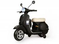 Kinderroller -Vespa PX150- elektrisch - Schwarz