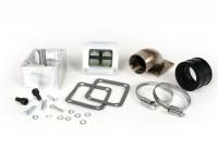 Intake manifold set for reed valve -SCOOTER & SERVICE reed valve- Vespa PX80, PX125, PX150, PX200, Sprint, Rally180 (VSD1T), Rally200 (VSE1T) - CS=42mm