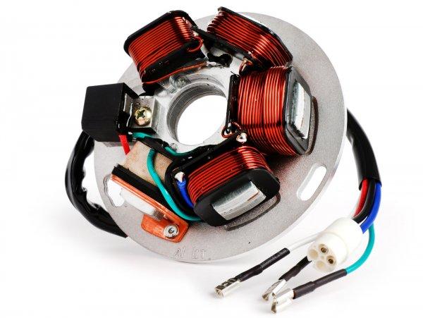Encendido -CIF placa de base- Vespa PX Iris (sin batería 1984-2011), PX Iris Elestart (con batería 1998-2011), Cosa - 5 cables