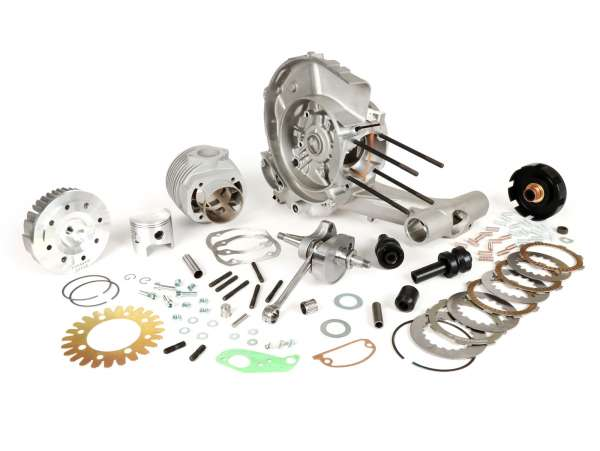 Tuning Kit (engine casing, crankshaft, clutch, cylinder) -PINASCO 251 cc Master, rotary valve- Vespa PX, Rally, Sprint, VNA, VNB, VBA, VBB, Super, TS, GT, GTR