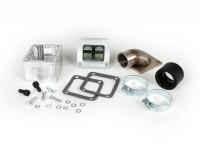 Intake manifold set -SCOOTER & SERVICE reed valve- Vespa PX80, PX125, PX150, PX200, Sprint, Rally180 (VSD1T), Rally200 (VSE1T) - CS=34mm