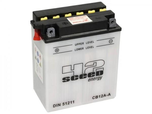Batterie -Standard SCEED 42 Energy- CB12A-A - 12V, 12Ah - 161x91x132mm (inkl. Säurepack)