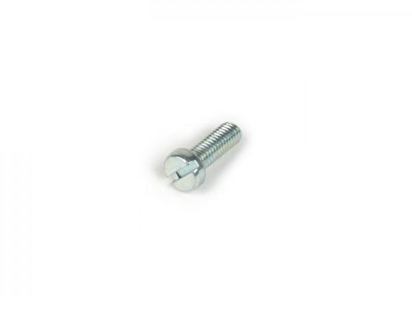 Tornillo -DIN 85- M5 x 14mm (utilizado para encendido Rally180 (VSD1T), Rally200 (VSE1T), Sprint150 (VLB1T), TS125 (VNL3T), GT125 (VNL2T), GTR125 (VNL2T), GL150 (VLA1T), Super, GS160 / GS4 (VSB1T), SS180 (VSC1T), VNA, VNB, VBA)