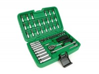 "Ratchet set -TOPTUL 1/4""- 4mm-13mm + Bits - 46 pcs"