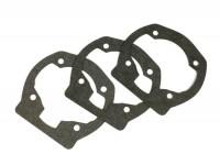 Kit de juntas para pie del cilindro -QUATTRINI M1X 172cc- 0,25mm/0,50mm/0,75mm, 3 lumbreras de transferencia- Vespa PX125, PX150, Cosa125, Cosa150, GTR125, TS125, Sprint Veloce (VLB1T, 0150001-)