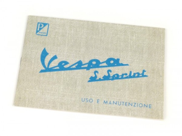 Owner's manual -VESPA- Vespa 90 Super Sprint (1965)