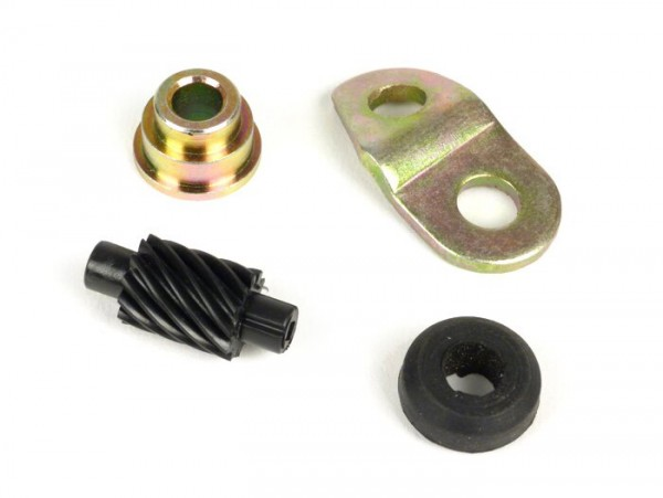Speedo drive kit -OEM QUALITY- Vespa 12 teeth, l=28mm, 2,7mm square, black (used in LML Star, Stella)