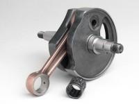 Crankshaft -MAZZUCCHELLI Standard (rotary valve)- Vespa PV125, ET3 125, PK80 S, PK125 S (Ø=19mm cone)