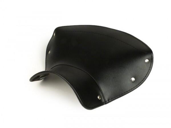Sattelbezug - Satteldecke -LAMBRETTA vorne oder hinten- C, LC, D, LD - schwarz (dreieckige Form)