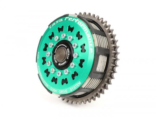 Kupplung -CASA PERFORMANCE PowerMaster 7 Scheiben, 12 Federn- Lambretta LI, LI S, SX. TV (Serie 2-3), DL/GP - 47 Zähne - wird verwendet mit CasaCover Motordeckel