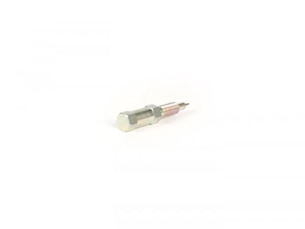 Gemischeinstellschraube -DELLORTO- SI20/20D, SI24/24E, SI24/24H - Gewinde M5 x 0,50mm - dünne Spitze (Ø=0,65mm) - Typ Vespa PX mit Sechskantschraube
