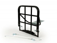 Gepäckträger klappbar hinten -AMS CUPPINI- Vespa V50, PV125, ET3 - schwarz