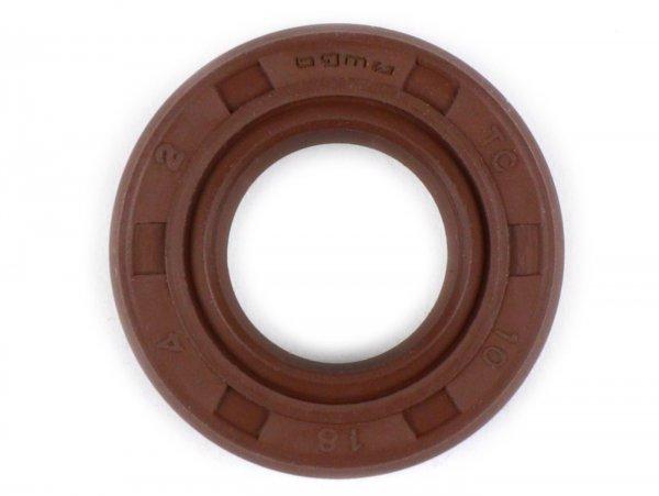 Wellendichtring 10x18x4mm -BGM PRO FKM/Viton® (E10 beständig)- (verwendet für Schaltwelle Vespa PK XL2 - Wasserpumpe Minarelli 50 ccm (Typ MA, CA)