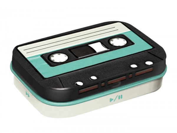 "Pillendose -Nostalgic Art- ""Retro Cassette"" - 4x6x2cm"