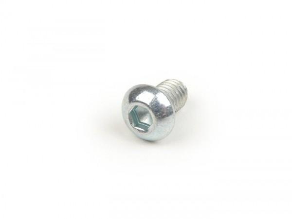 Schraube Innensechskant Linsenkopf -ISO7380- M6 x 10mm (Festigkeit 10.9) - VZ -verwendet für Aluminium Lüfterrad GP-ONE, Undis für Vespatronic