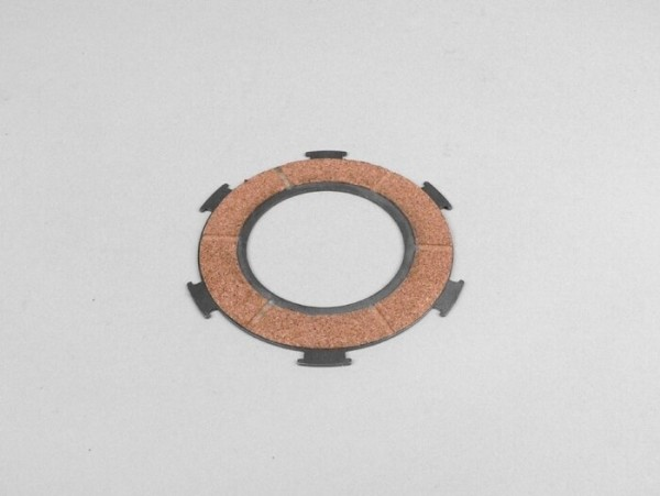 Clutch friction plate -PIAGGIO Vespa type 6 springs (PX80, PX125, PX150)- 3 friction plates - outer