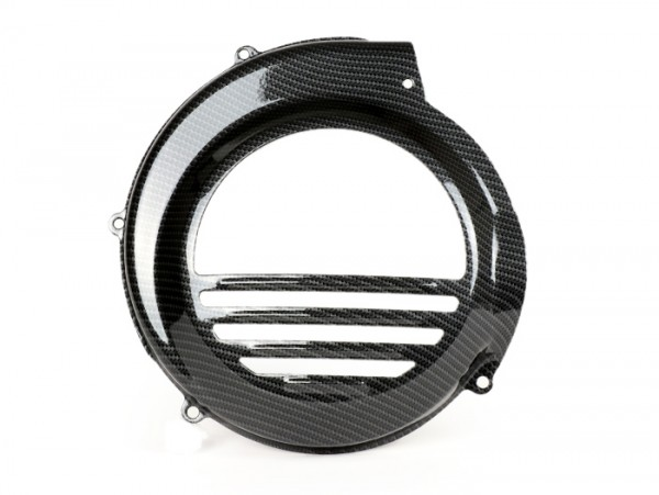 Flywheel cover -CIF carbon look- Vespa PX80, PX125, PX150, PX200 - models with kickstart lever only