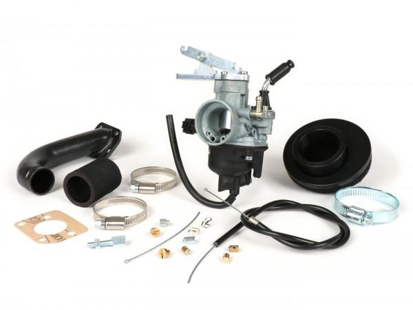 Vergaserkit -PINASCO Dellorto PHVB Ø22mm- Vespa Wideframe VM1T, VM2T, VN1T, VN2T, VL1T, VL2T, VL3T, VB, VGL1, ACMA - mit Ansaugstutzen (nur passend für Zylinder Pinasco Nordkapp 160ccm)