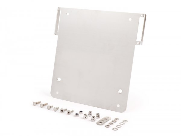Number plate holder -TD-Customs 180x200mm- Lambretta with holders for BGM LED indicators
