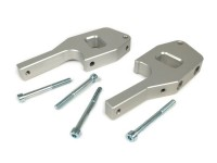 Pair of foot peg adapter passenger CNC -SC- Vespa GT, GTL, GTS, GTV 125-300 - silver anodised