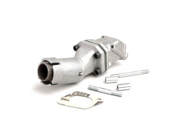 Colector de admisión - para caja de láminas -POLINI válvula de láminas 2 agujeros- Vespa PK S - Dellorto SHB Ø=19mm