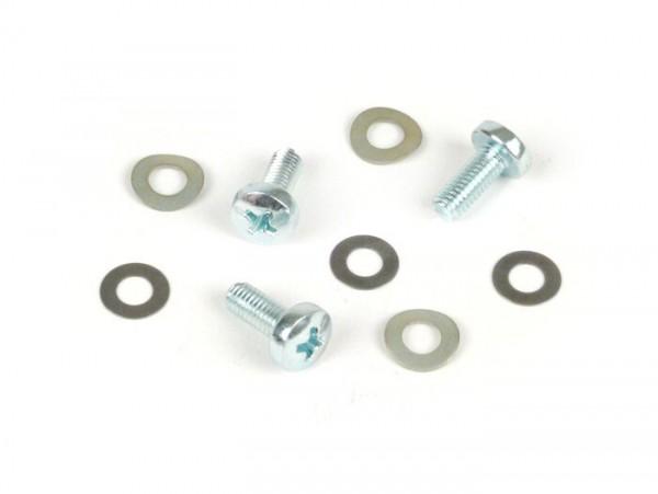 Schrauben-Set für Zündung -OEM QUALITÄT- verwendet für Zündgrundplatte Vespa Largeframe - PX, Cosa, Rally, Sprint150, Sprint Veloce, GT125, GTR125, Super, GL150, VNA, VBA, VNB, VBB